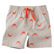 Jumping Beans Crab Canvas Shorts - Baby