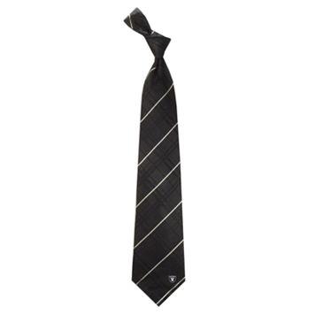 Men's Oakland Raiders Oxford Silk Tie