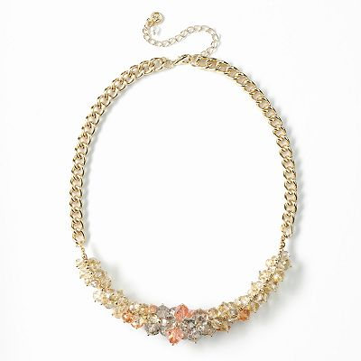 Simply Vera Vera Wang Gold Tone Bead Cluster Necklace