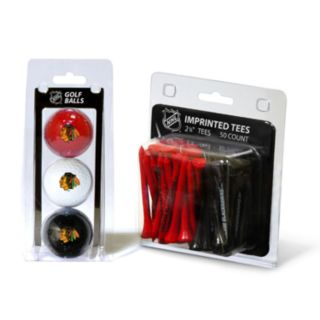 Team Golf Chicago Blackhawks Ball and Tee Set