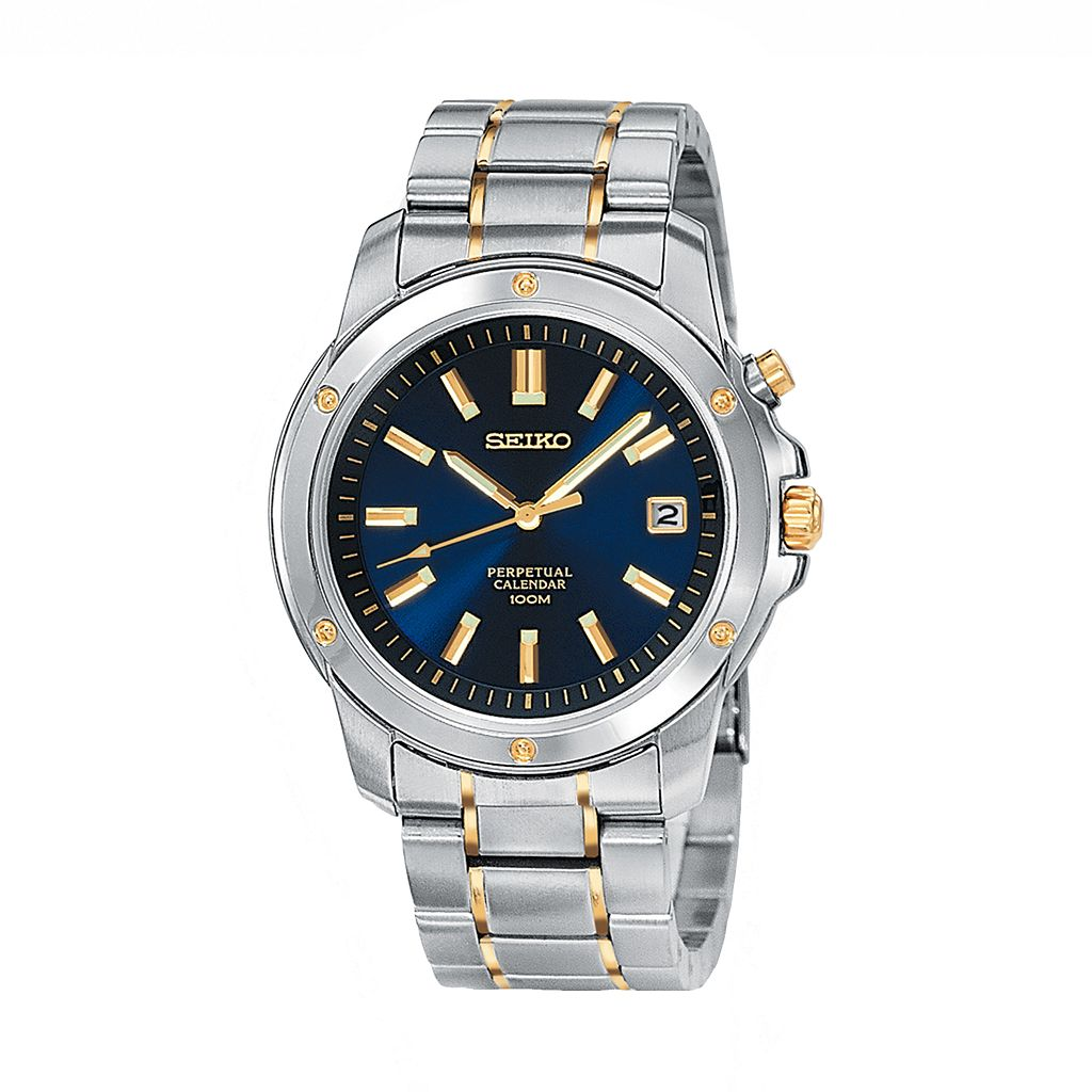 Seiko Men's Two Tone Stainless Steel Watch - SNQ010
