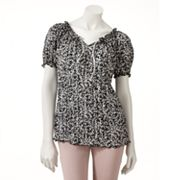 Croft and Barrow Printed Crinkled Top