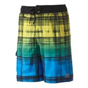 ZeroXposur Weathered Plaid Swim Trunks