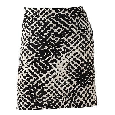 Apt. 9 Animal Ponte Skirt - Women's Plus