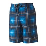 ZeroXposur Plaid Swim Trunks