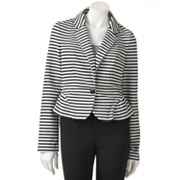 ELLE Striped Peplum Blazer