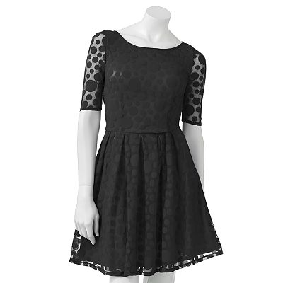 LC Lauren Conrad Dot Mesh Dress