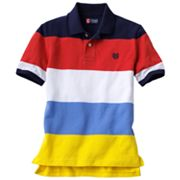 Chaps Bold Wide-Stripe Polo - Boys 8-20