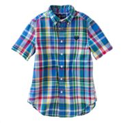 Chaps Plaid Camp Shirt - Boys 8-20