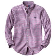 Chaps Tattersal Button-Down Shirt - Boys 8-20