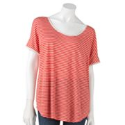 LC Lauren Conrad Striped Dolman Top