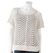 LC Lauren Conrad Open-Work Sweater