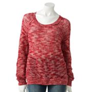 LC Lauren Conrad Space-Dye Raglan Sweater