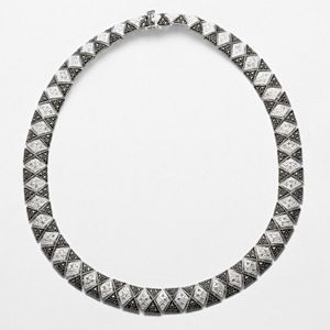 Le Vieux Crystal & Marcasite Silver-Plated Necklace - Made with Swarovski Marcasite
