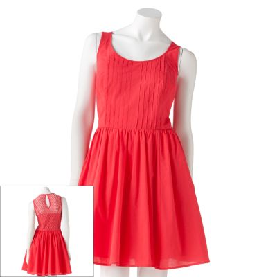 LC Lauren Conrad Crochet Fit and Flare Dress