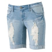 Mudd Distressed Bermuda Shorts - Juniors