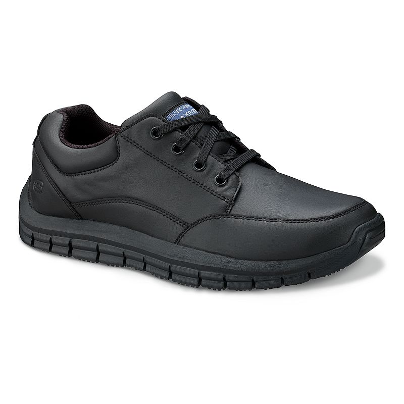 Skechers Black Relaxed Fit Magma Soother Work Shoes - Men