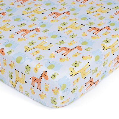 Carter's Easy-Fit Safari Crib Sheet