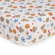 Carter's Easy-Fit Bear Sports Fitted Crib Sheet