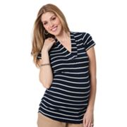 Oh Baby by Motherhood Striped Ruched Tee