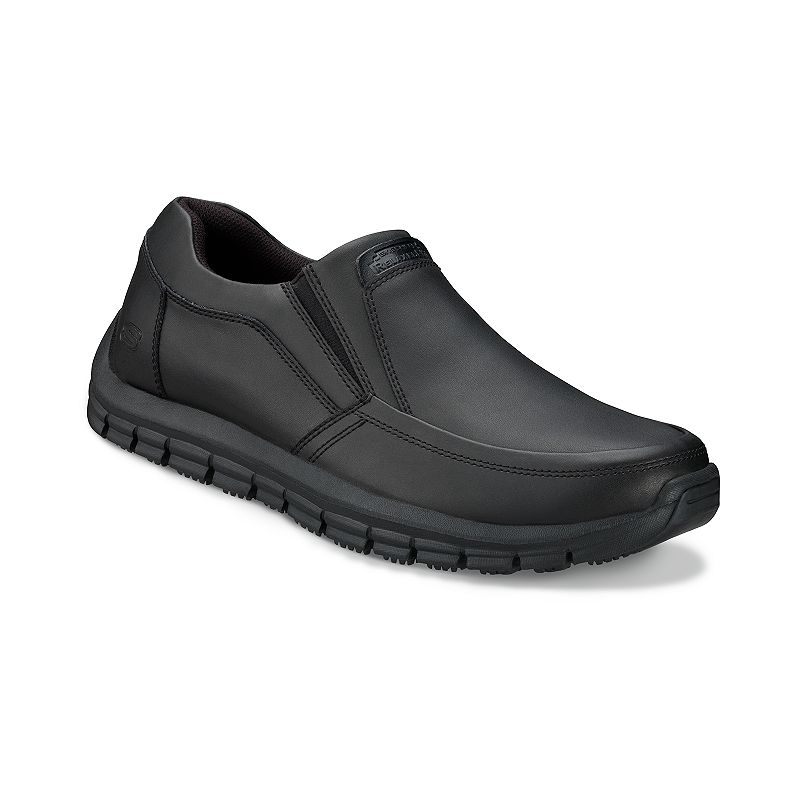 Skechers Black Relaxed Fit Magma Solace Work Shoes - Men