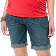 Oh Baby by Motherhood Mid-Belly Denim Bermuda Shorts - Maternity