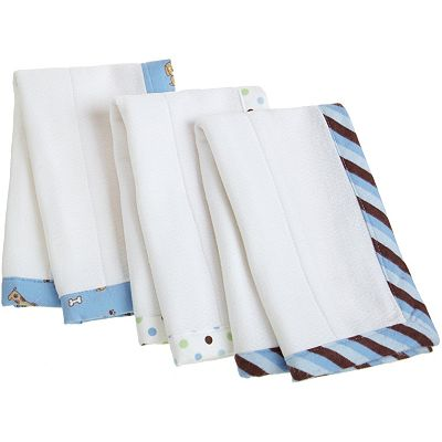 Carter's 3-pk. Keep-Me-Dry Puppy Burp and Lap Pads
