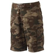 G and M Chicago Twill Belted Camo Cargo Shorts