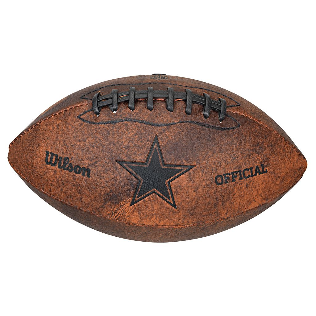 Wilson Dallas Cowboys Throwback Youth-Sized Football