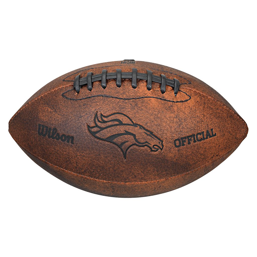 Wilson Denver Broncos Throwback Youth-Sized Football