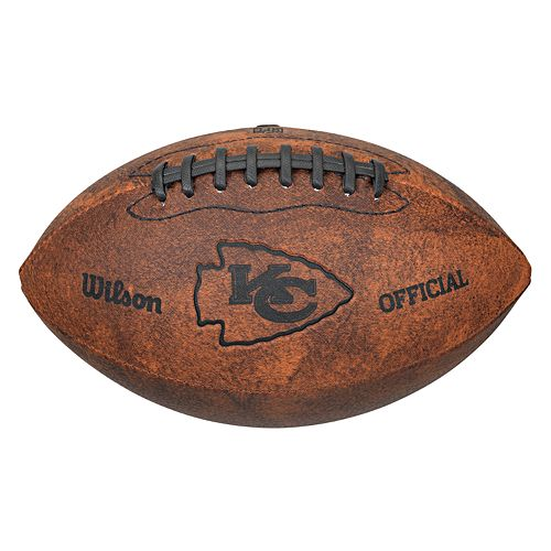 new arrival 3dcb7 57e67 Wilson Kansas City Chiefs Throwback Youth-Sized Football