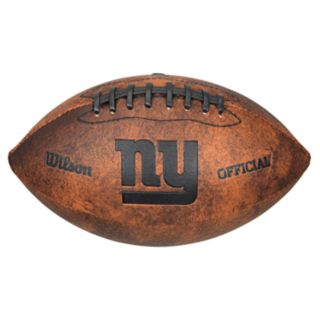 Wilson New York Giants Throwback Youth-Sized Football