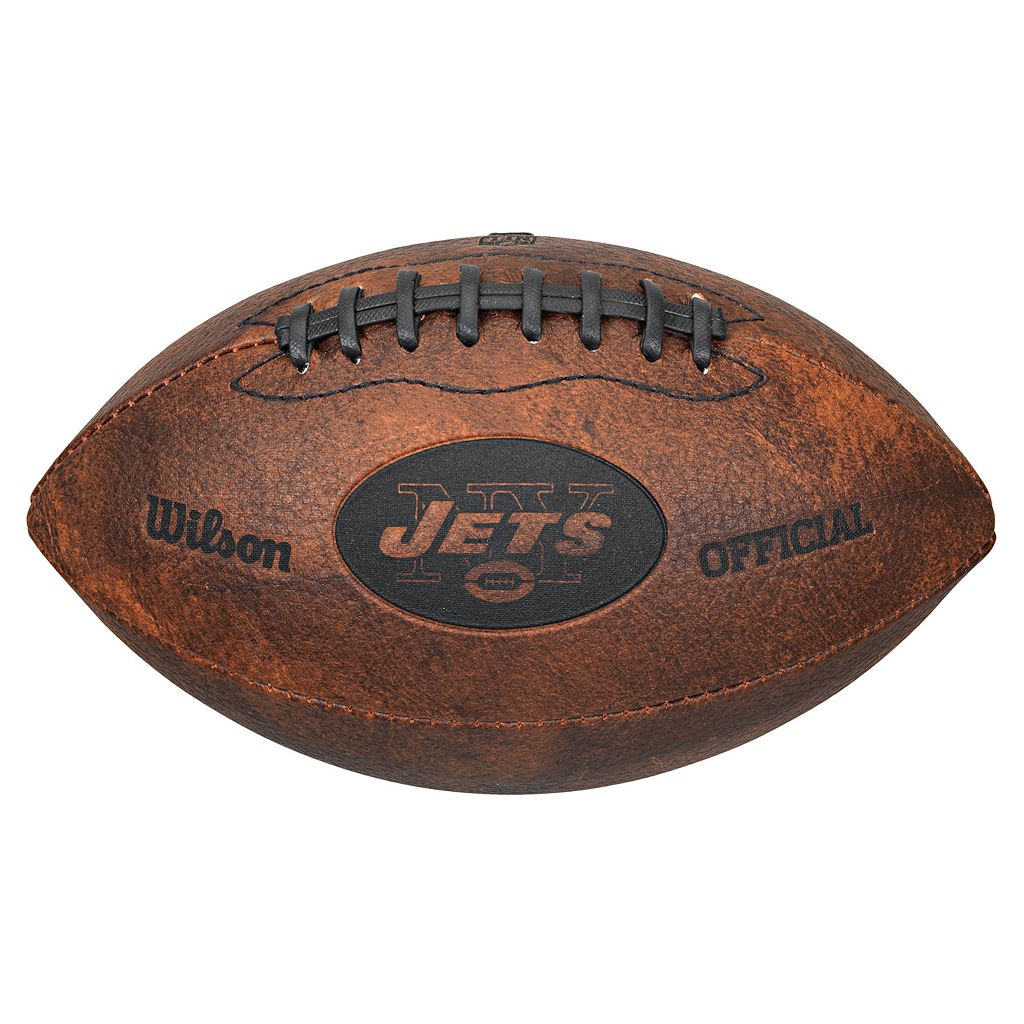 Wilson New York Jets Throwback Youth-Sized Football