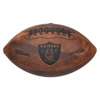 Wilson Oakland Raiders Throwback Youth-Sized Football