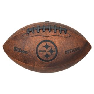 Wilson Pittsburgh Steelers Throwback Youth-Sized Football