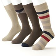 Croft and Barrow 4-pk. Patterned Dress Socks