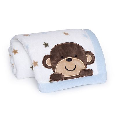 Carter's Monkey Rockstar Fleece Blanket