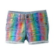 SONOMA life + style Foiled Rainbow Denim Shorts - Girls 4-6x