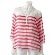 Apt. 9 Striped Chiffon Peasant Blouse and Camisole Set
