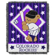 Colorado Rockies Baby Jacquard Throw by Northwest