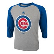 adidas Chicago Cubs Raglan Tee - Boys 8-20
