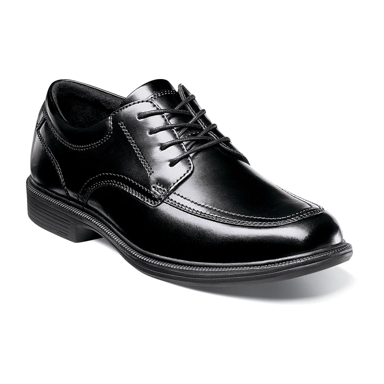 Black and gray mens dress shoes