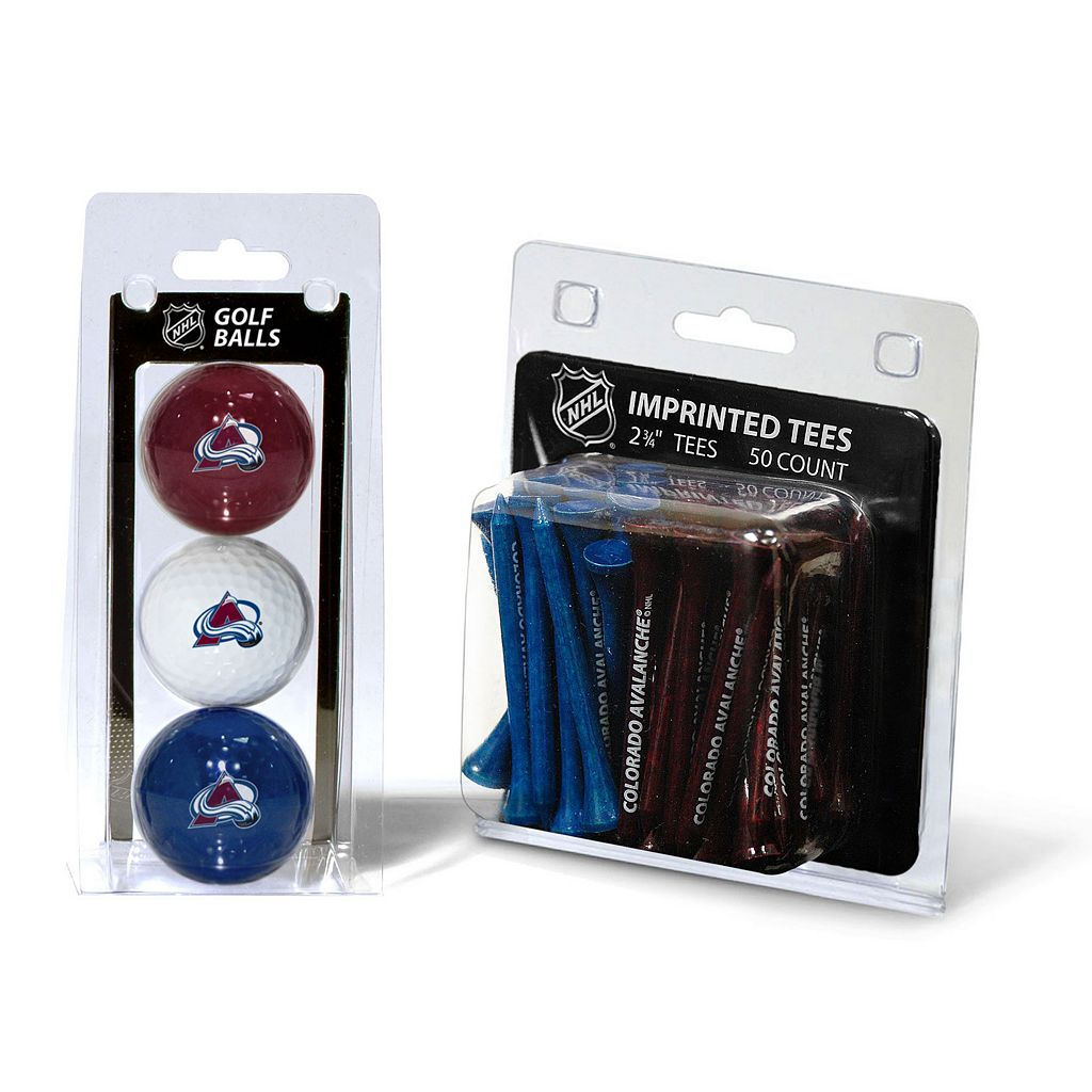 Team Golf Colorado Avalanche Ball & Tee Set