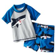 Carter's Shark 2-pc. Rash Guard and Swim Trunks Set - Baby
