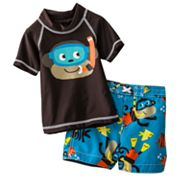 Carter's Monkey Rash Guard and Swim Trunks Set - Baby