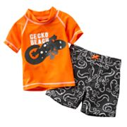 Carter's Gecko Beach 2-pc. Rash Guard Set - Baby