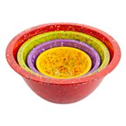 Zak Designs Confetti 4-pc. Mixing Bowl Set