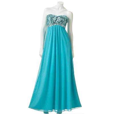 Speechless Glitter Long Dress - Juniors