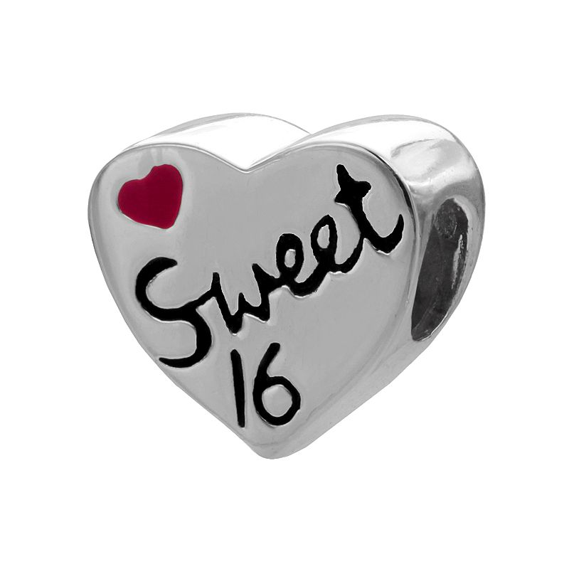 Individuality Beads Sterling Silver Sweet 16 Heart Bead