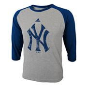 adidas New York Yankees Raglan Tee - Boys 8-20